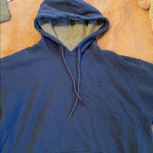 Deep Blue Vintage Champion Hoodie